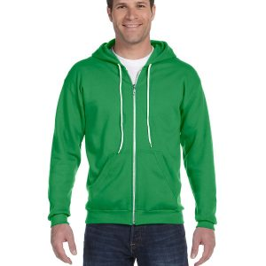Anvil 71600 Adult Full-Zip Hooded Fleece Front