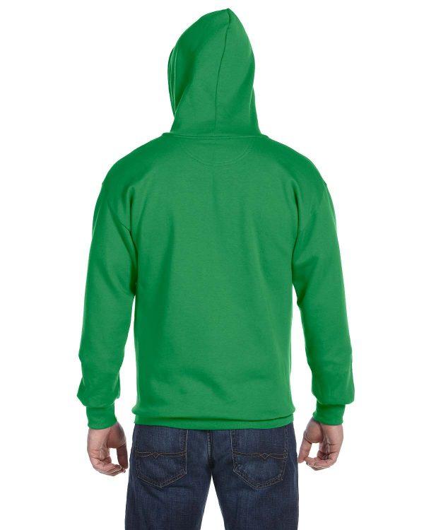 Anvil 71600 Adult Full-Zip Hooded Fleece Back