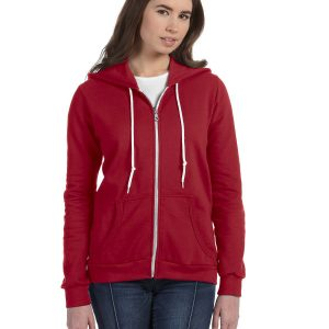 Anvil 71600L Ladies Full-Zip Hooded Fleece Front