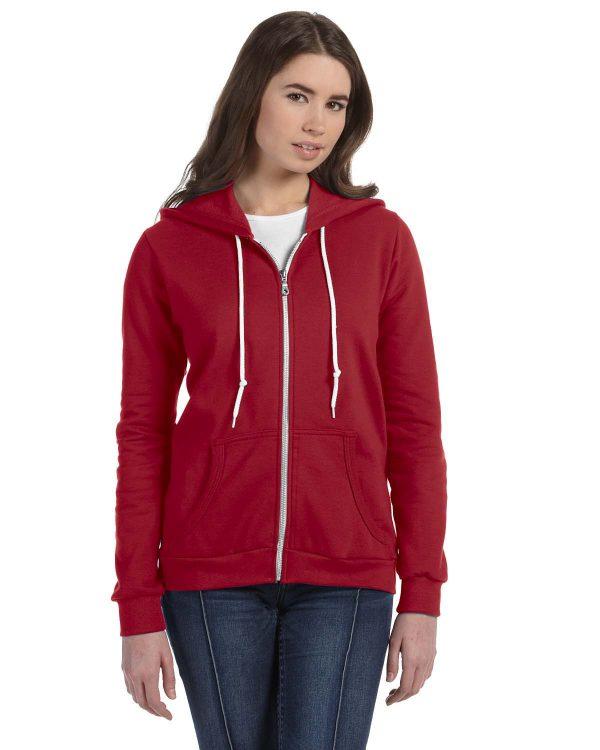 Anvil 71600L Ladies Full-Zip Hooded Fleece Front