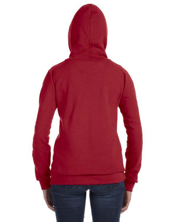Anvil 71600L Ladies Full-Zip Hooded Fleece Back
