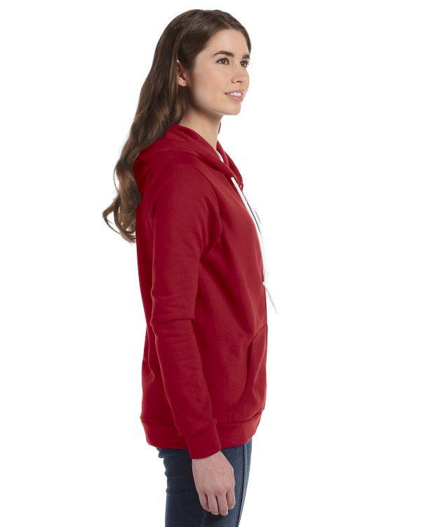 Anvil 71600L Ladies Full-Zip Hooded Fleece Side