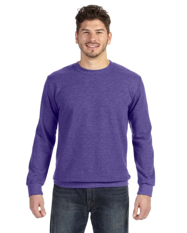 Anvil 72000 Adult Crewneck French Terry Front