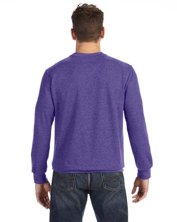 Anvil 72000 Adult Crewneck French Terry Back