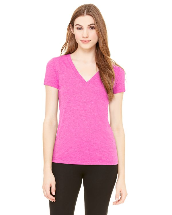 Bella Canvas 8435 Ladies Triblend Short-Sleeve V-Neck T-Shirt Front