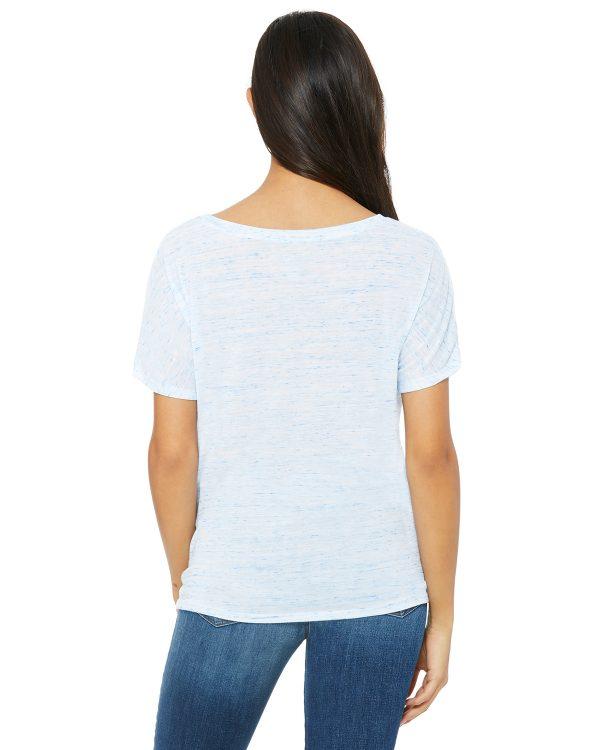 Bella Canvas 8815 Ladies V-Neck T-Shirt Back