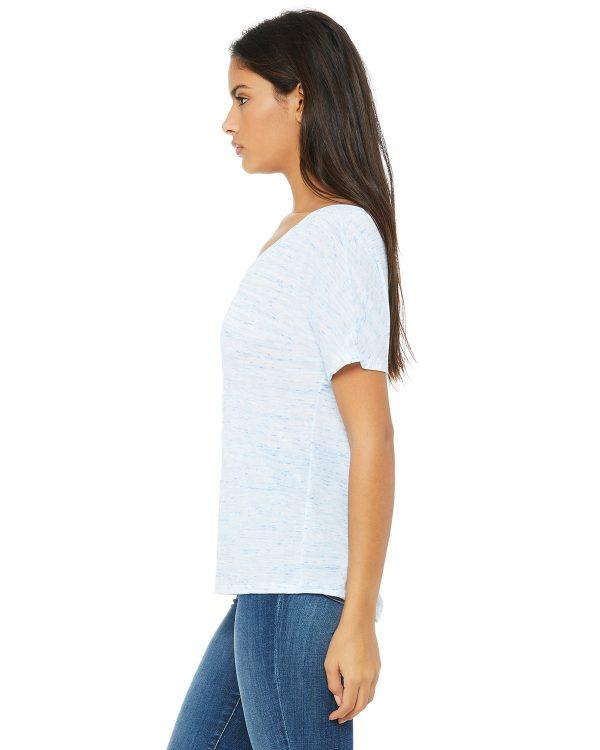 Bella Canvas 8815 Ladies V-Neck T-Shirt Side
