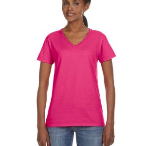 Anvil 88VL Ladies Lightweight V-Neck T-Shirt Front