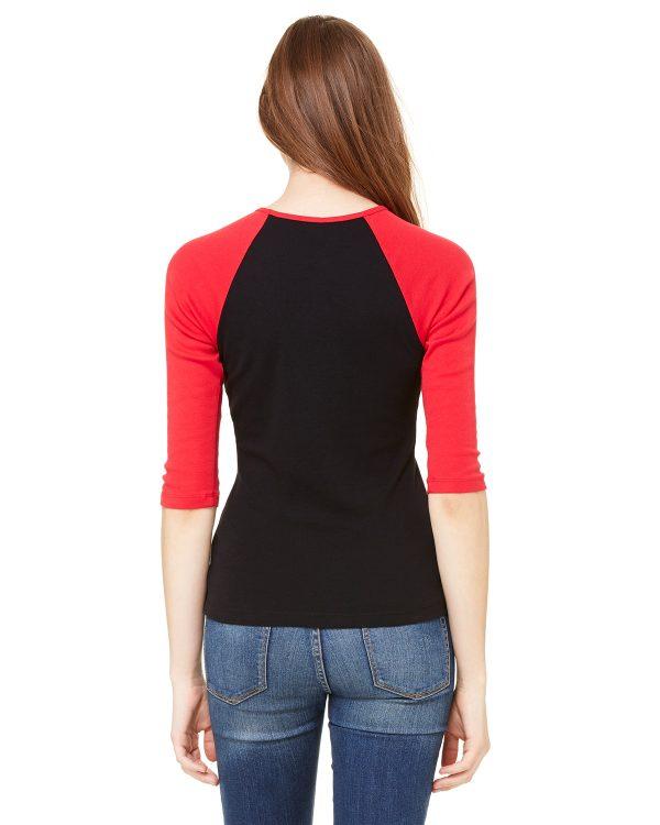 Bella Canvas B2000 Ladies 3/4 Sleeve Raglan T-Shirt Front