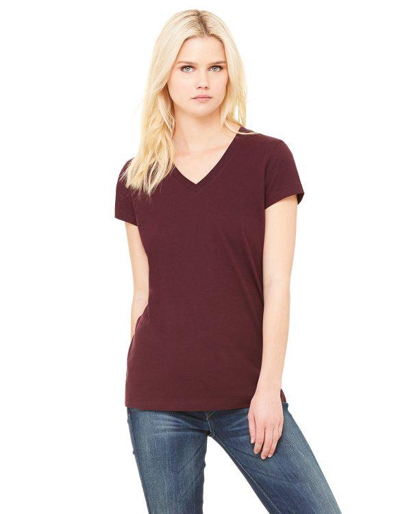 Bella Canvas B6005 Ladies Jersey Short-Sleeve V-Neck T-Shirt Front
