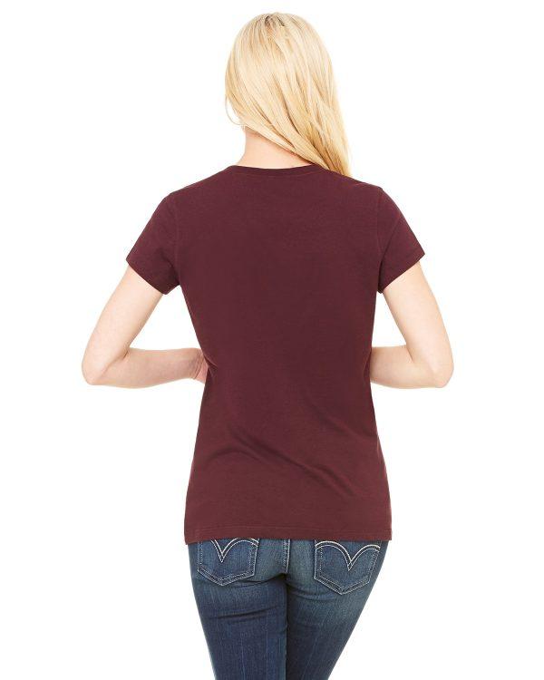Bella Canvas B6005 Ladies Jersey Short-Sleeve V-Neck T-Shirt Back