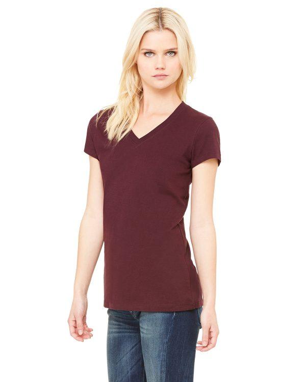 Bella Canvas B6005 Ladies Jersey Short-Sleeve V-Neck T-Shirt Side