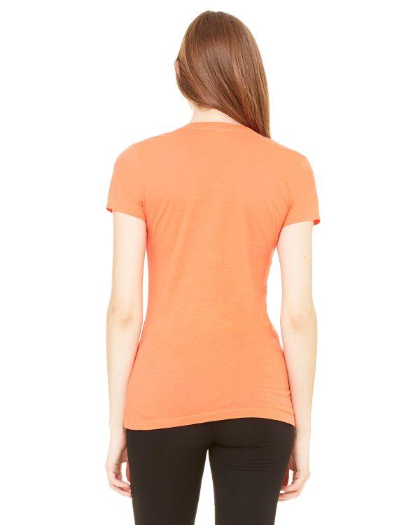 Bella Canvas B6035 Ladies Jersey Short-Sleeve V-Neck T-Shirt Back