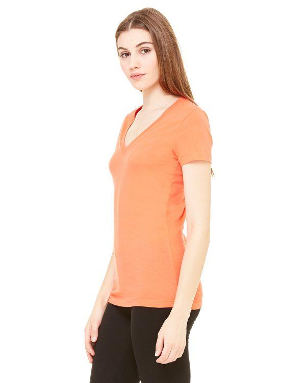 Bella Canvas B6035 Ladies Jersey Short-Sleeve V-Neck T-Shirt Side