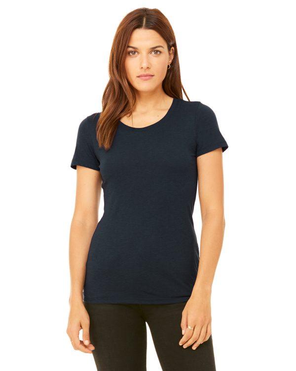 Bella Canvas B8413 Ladies Triblend Short-Sleeve T-Shirt Front
