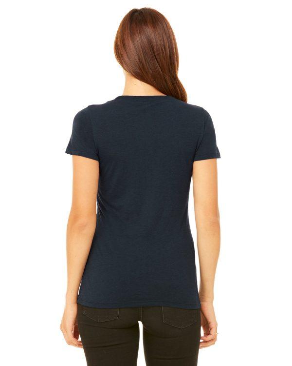 Bella Canvas B8413 Ladies Triblend Short-Sleeve T-Shirt Back