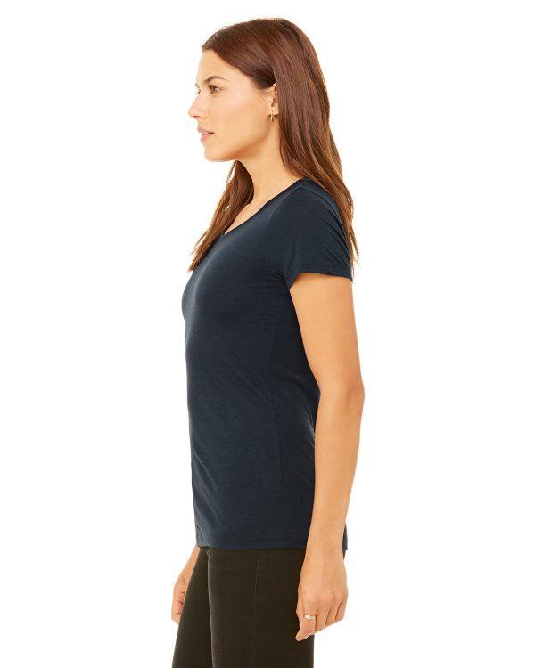 Bella Canvas B8413 Ladies Triblend Short-Sleeve T-Shirt Side