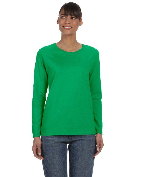 Gildan G5400L Ladies Long Sleeve T-Shirt Front