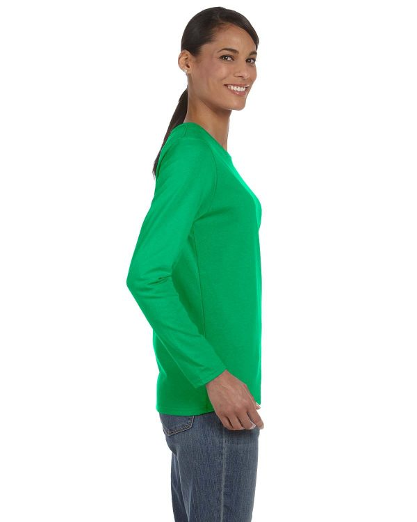 Gildan G5400L Ladies Long Sleeve T-Shirt Side