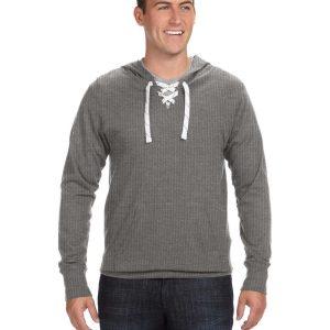 J America JA8231 Adult Sport Lace Jersey Hood Front