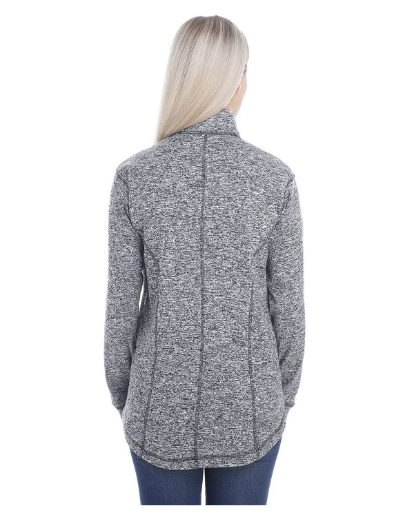 J America JA8617 Ladies Cosmic Fleece Quarter-Zip Back