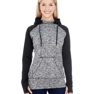 J America JA8618 Ladies Colorblock Cosmic Hood Front