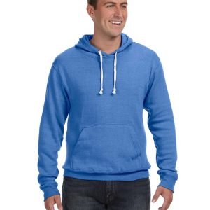 J America JA8871 Adult Triblend Pullover Fleece Hood Front