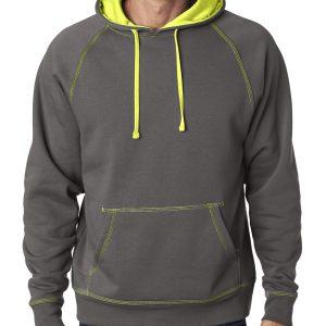 J America JA8883 Adult Shadow Fleece Pullover Hood Front