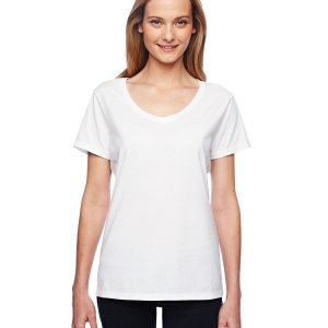 Hanes 42V0 Ladies X-Temp Performance V-Neck Front