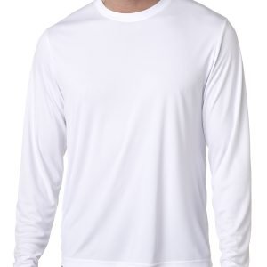 Hanes 482L Adult Cool DRI Long-Sleeve Performance T-Shirt Front