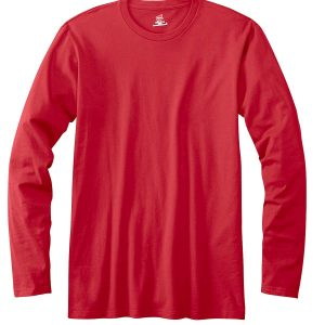 Hanes 498L Adult nano-T Long-Sleeve T-Shirt Front
