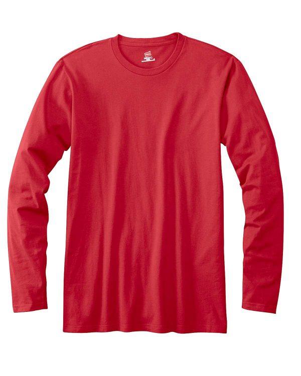 Hanes 498L Adult nano-T Long-Sleeve T-Shirt Front