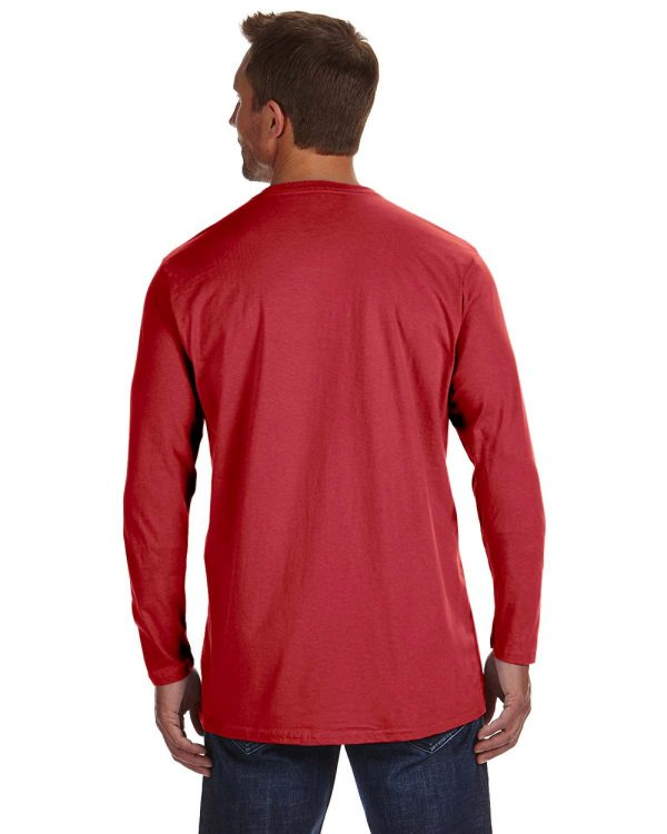 Hanes 498L Adult nano-T Long-Sleeve T-Shirt Back