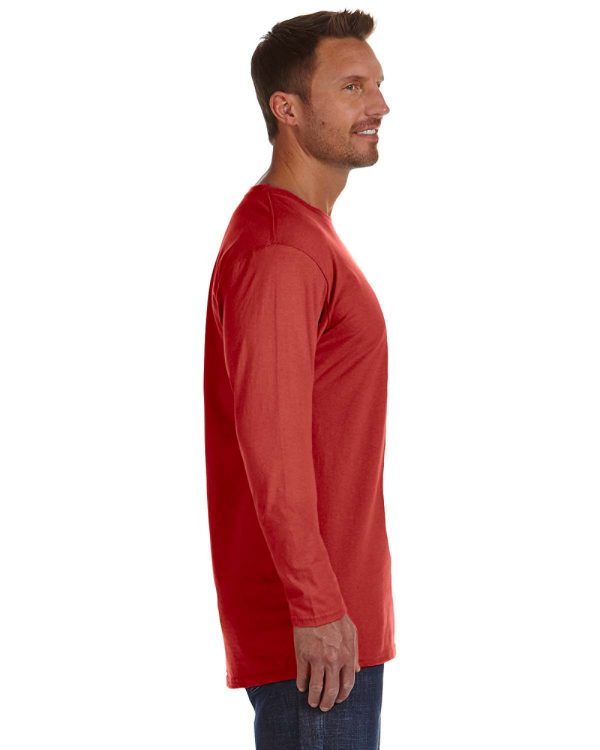 Hanes 498L Adult nano-T Long-Sleeve T-Shirt Side
