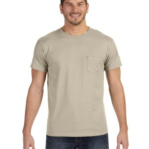 Hanes 498P Adult nano-T T-Shirt with Pocket Front
