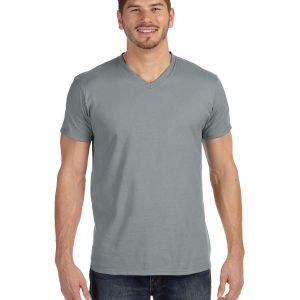 Hanes 498V Adult Nano-T V-Neck T-Shirt Front