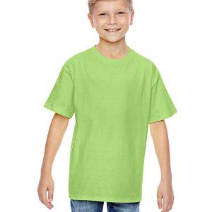Hanes 498Y Youth nano-T T-Shirt Front