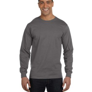 Hanes 5186 Adult Long-Sleeve Beefy-T Front