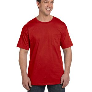 Hanes 5190P Adult Beefy-T with Pocket Front