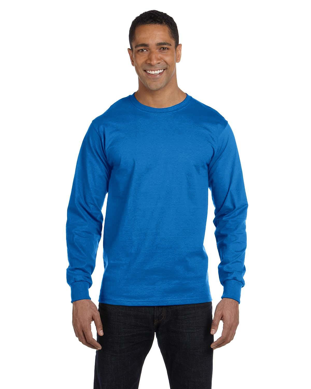 9099c37612b Hanes 5286 Men s ComfortSoft Cotton Long-Sleeve T-Shirt - Captain ...
