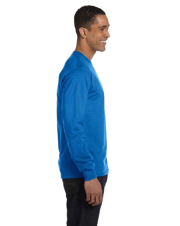 Hanes 5286 Men's ComfortSoft Cotton Long-Sleeve T-Shirt Side