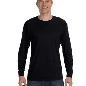 Hanes 5586 Unisex Tagless Long-Sleeve T-Shirt Front