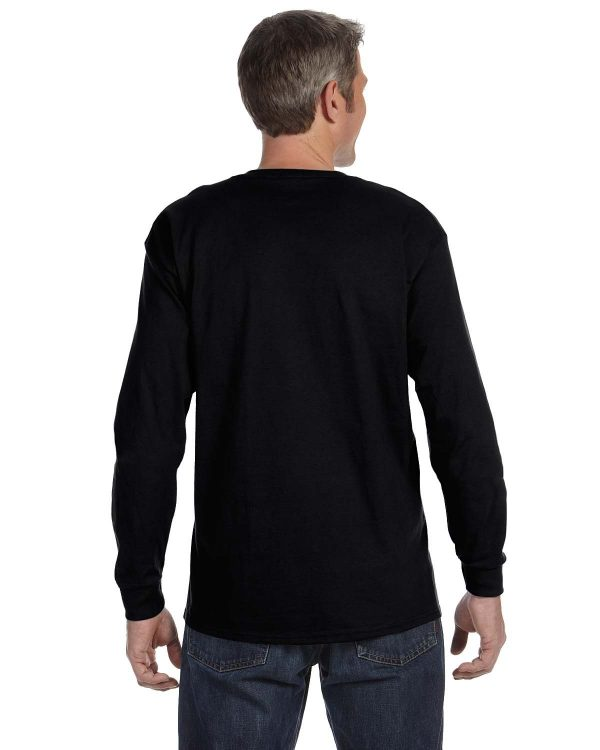 Hanes 5586 Unisex Tagless Long-Sleeve T-Shirt Back