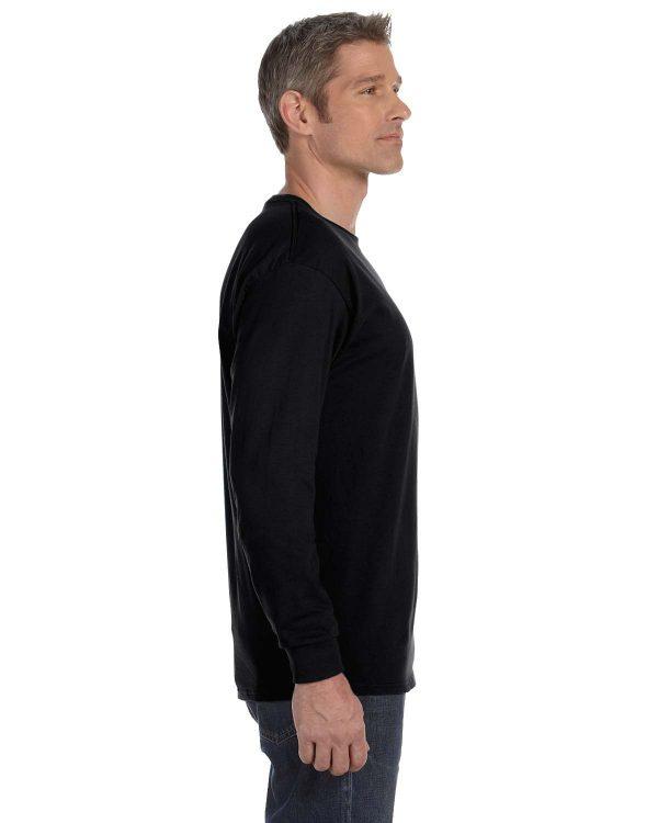 Hanes 5586 Unisex Tagless Long-Sleeve T-Shirt Side
