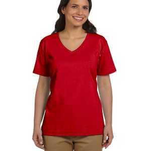 Hanes 5780 Ladies Tagless V-Neck T-Shirt Front
