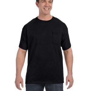 Hanes H5590 Men's Tagless Pocket T-Shirt Front