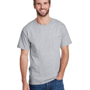 Hanes W110 Adult Workwear Pocket T-Shirt Front