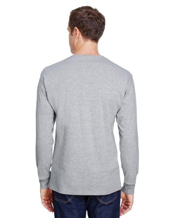 Hanes W120 Adult Workwear Long-Sleeve Pocket T-Shirt Back