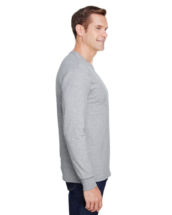 Hanes W120 Adult Workwear Long-Sleeve Pocket T-Shirt Side